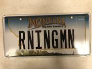 Expired MONTANA Big Sky Country License Plate RNINGMN Mountain Range
