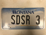 2000 MONTANA Big Sky License Plate SDSR-3 Cow Skull