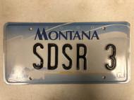 2000 MONTANA Big Sky License Plate SDSR-3 Cow Skull