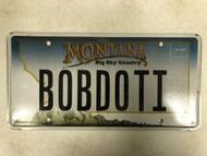 Expired MONTANA Big Sky Country License Plate BOBDOTI Bob Robert Mountain Range