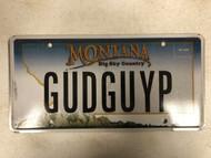 Expired MONTANA Big Sky Country License Plate GUDGUYP Good Guy Mountain  Range