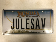 Expired MONTANA Big Sky Country License Plate JULESAV Mountain  Range