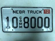 2005 Tag NEBRASKA Platte County Commercial Truck License Plate 10-8000