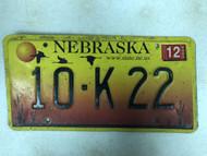 2005 Tag NEBRASKA Platte County www . state . ne . us Website License Plate 10-K22 Sunset Geese Cattails