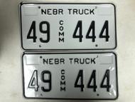 Expired NEBRASKA Howard County Commercial Truck License Plate 49-444 PAIR