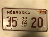 2002 Tag NEBRASKA Dixon County Mobile Home License Plate 35-20