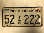 1999 Tag NEBRASKA Kearney County Commercial Truck License Plate 52-222 Cool #