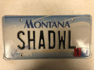 2000 (2004 Tag) MONTANA Big Sky License Plate SHADWL Cow Skull