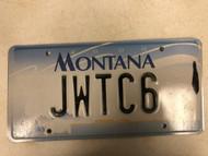 2000 MONTANA Big Sky License Plate JWTC6 Cow Skull
