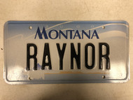 2000 MONTANA Big Sky License Plate RAYNOR Cow Skull
