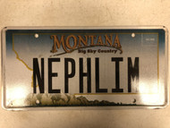 Expired MONTANA Big Sky Country License Plate NEPHLIM Mountain Range