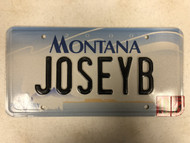 2000 (2001 Tag) MONTANA Big Sky License Plate JOSEYB Josey Josie Cow Skull