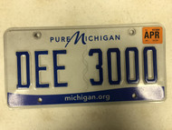 2015 Tag Pure MICHIGAN michigan . org State Website License Plate DEE-3000 Dee Cool #