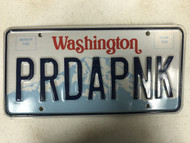 Expired WASHINGTON License Plate PRDAPNK Mountain