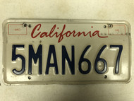 Expired CALIFORNIA License Plate 5MAN667