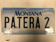 2000 MONTANA Big Sky License Plate PATERA-2 Cow Skull