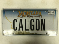 2005 Tag MONTANA Big Sky Country License Plate CALGON Mountain Range
