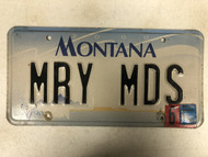 2000 (2004 Tag) MONTANA Big Sky License Plate MRY-MDS Cow Skull