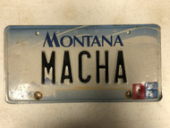 2000 (2004 Tag) MONTANA Big Sky License Plate MACHA Cow Skull