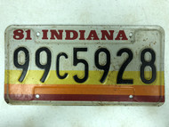 1981 INDIANA Marion County License Plate 99c5928