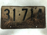 DMV Clear 1942 MISSOURI Passenger Shorty License Plate YOM Clear 31-714 MO