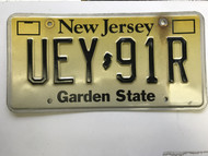 expired, New Jersey License Plate UEY-91R.