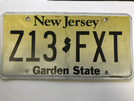 expired, New Jersey License Plate Z13-FXT.
