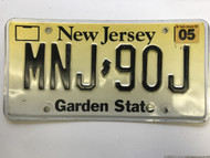 May 2003, New Jersey License Plate MNJ-90J.