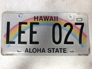 2011 HAWAII Aloha State License Plate LEE-027 Lee