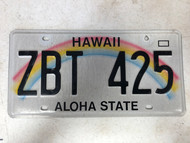2008 HAWAII Aloha State License Plate ZBT-425