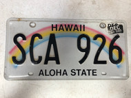 December 2016 Tag HAWAII Aloha State License Plate SCA-926