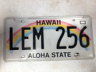2008 HAWAII Aloha State License Plate LEM-256 Rainbow