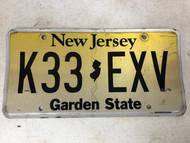 Expired NEW JERSEY Garden State License Plate K33-EXV