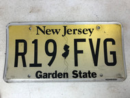 Expired NEW JERSEY Garden State License Plate R19-FVG
