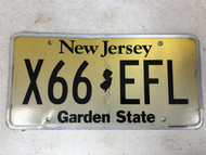 Expired NEW JERSEY Garden State License Plate X66-EFL