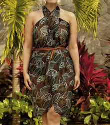 AN8163 Leaf Wrap Skirt Swim Cover by Anita Shown Tied as Dress
