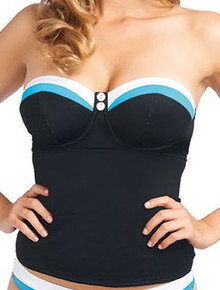 AS3221 Black Underwire Bandeau Tankini Revival by Freya