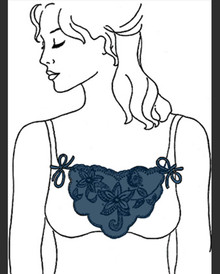 BR5001 Cami Lace Navy