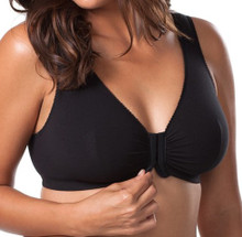 LL110 Basic Front Hook Softcup Sleep Bra Black