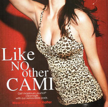 MN50200 Night Push-up Bra Camisole Top Leopard