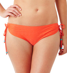 PA0087 Matilda Orange Draw Side Bikini Swim Bottom