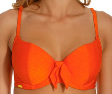 PA0120 Orange Bikini Top Rita by Panache