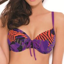 PA0682 Suzette Purple Multi Bikini Top by Panache