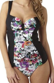 PA0841 Annalise Black Tankini Swim Top by Panache