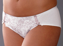 RY944 Ivory Floral Print Short Pantie by Royce