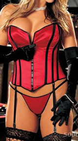 SH25907 Satin Strapless Corset by Shirley of Hollywood