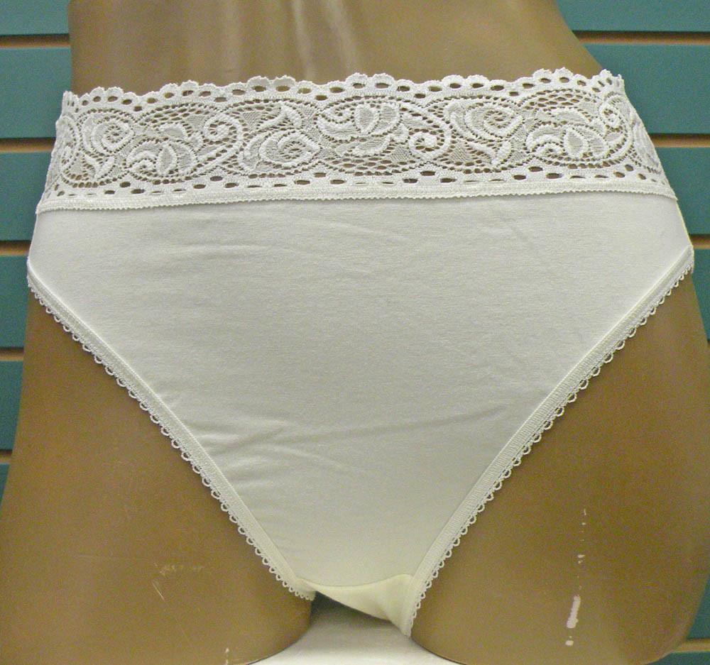 6e8e1e70f Supima Cotton 87135 Ivory Hi-cut Brief Pantie by Wacoal