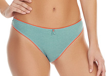 AA1327 Reef Blue Deco Fuse Thong Pantie by Freya