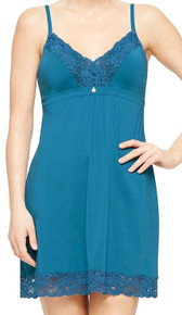 MN9394 Fashion Lace Chemise by Montelle - Moroccan Blue