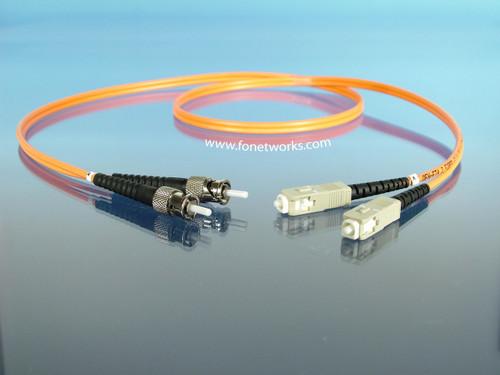 Multimode 62.5/125 Duplex Cable Assembly ST/SC